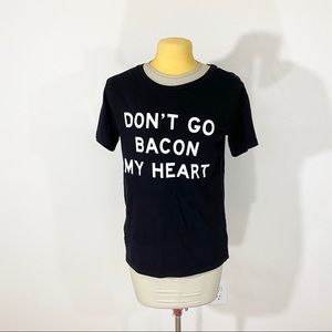 Freeze Don't Go Bacon My Heart Graphic Tee